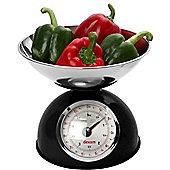 Dexam Retro Design Mechanical Kitchen Scales, Black