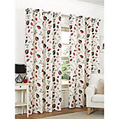 Hamilton McBride April Eyelet Lined Curtains - Red
