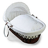 Clair de Lune Dark Wicker Moses Basket (Starburst White)