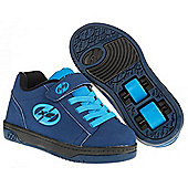 NEW Heelys Dual Up X2 Girls/Boys Roller Skating Trainer Choose Colour JNR 11-UK3 - Blue