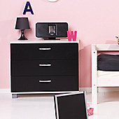 Thuka Trendy Three Drawer Chest - Black - White