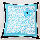 Blue Flower Cotton Children's Cushion