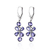 QP Jewellers 5.32ct Tanzanite Blossom Bloom Earrings in 14K White Gold