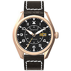 Grayton Harrier Mens Leather 24 hour Date Watch GR-0014-005.3