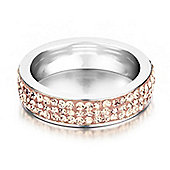 Shimla Ladies Rose Gold Stainless Steel Ring - SH-123ML