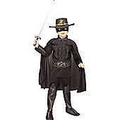 Child Deluxe Zorro Super Hero Costume Large