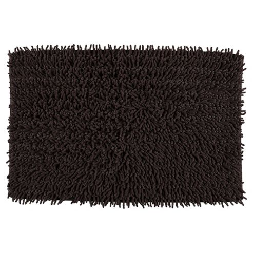 buy tesco chenille bath mat chocolate from our bath mats. Black Bedroom Furniture Sets. Home Design Ideas