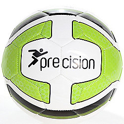 Precision Santos Training Ball White/Lime Green/Black Size 4