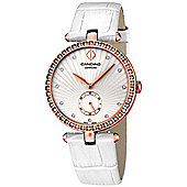 Candino Elegance Ladies White Leather Stone Set Watch C4565/1