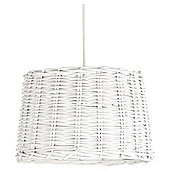 Lowestoft Woven Taper Drum Shade, Whitewash