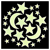 Tesco Glow In The Dark Star Stickers