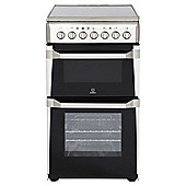 Indesit IT50C1XXS, Freestanding, Electric Cooker, 50cm, Stainless Steel, Twin Cavity, Single Oven