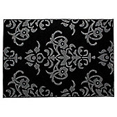 Tesco Damask Rug 120X170Cm Black/Grey