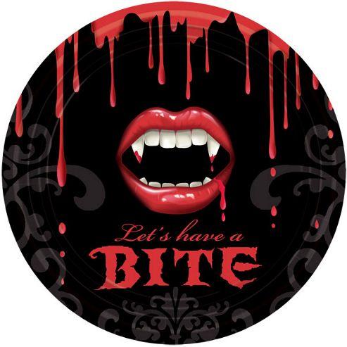Fangtastic Vampire Party Paper Plates 23cm