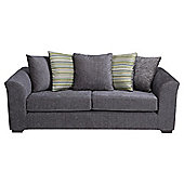 Toronto Fabric Large Sofa Charcoal