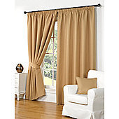 Hamilton McBride Waffle Lined Pencil Pleat Curtains - Gold