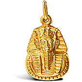 Jewelco London 9ct Yellow Gold Tutankhamen Charm