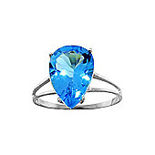QP Jewellers 5.0ct Blue Topaz Ring in Sterling Silver