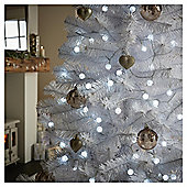 100 Berry Crackle Christmas Lights, Clear