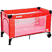 Caretero Simplo Travel Cot (Red)