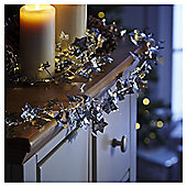 Weiste Silver Ivy Light Up LED Christmas Garland, 2m