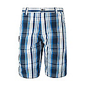 Mens Walking Hiking Lightweight Check Cargo Sporty Comfortable Shorts - Grey
