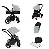 ickle bubba Stomp V2 All in One Travel System - Silver (Black Chassis)
