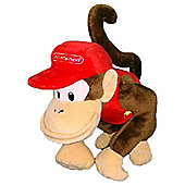 "Official Nintendo Mario Plush Series Stuffed Toy - 8"" Diddy Kong"