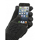 Touch Screen Gloves Cable Knit Medium