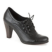 Bellissimo Leather Shoe Boot - Black