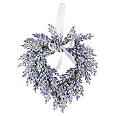 Tesco Lavender Heart Wreath