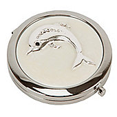 Pearlised Crystal Dolphin Compact Mirror