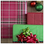 Tesco 3 Sheet Tissue Paper, Red Tartan