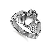 Jewelco London Sterling Silver Claddagh Ring Size