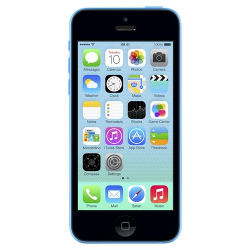 Tesco Mobile Apple iPhone 5c 8GB Blue