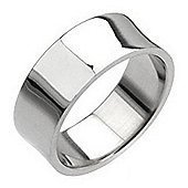 Urban Male Stainless Steel Men's Polished Concave Band Ring 8mm