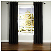 Live Plain Canvas Unlined Eyelet Curtain 66X90 - Black