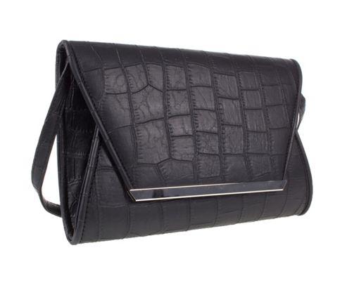 Barratts Croc Effect Envelope Style Clutch Bags