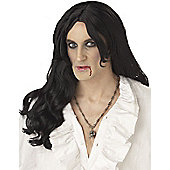 Adult Old World Vampire Wig BLACK