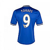 2013-14 Chelsea Home Shirt (Torres 9) - Kids - Blue