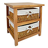 Premier Housewares Storage Unit with Two Maize Baskets - Natural