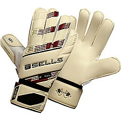 Sells V.V. Excel 4 Junior Goalkeeper Gloves Size 7 Wh/Bl/Wine/Gold