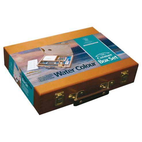 Cotman Watercolour Half Pan Wooden Box
