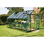Europa Manor Viscount Greenhouse – 8 x 12 - Green Finish – Horticultural Glass