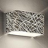 Leucos Block Pendant - White and Platinum