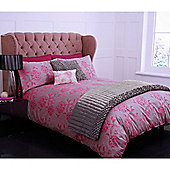 Pied A Terre Peony Jacquard Pillowcase Pair In Coral