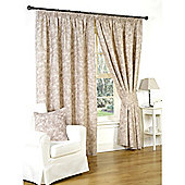 Genesis Mink Pencil Pleat Lined Curtains - 66x54