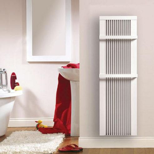 EHC Electric Combination Radiator with Towel Rack, 1240mm High x 550mm Wide, Manual Controls, 1800 Watts