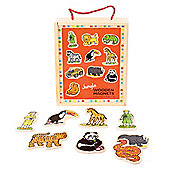Bigjigs Toys BJ729 Wooden Jungle Magnets