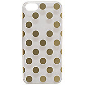 Tortoise™ Hard Protective Case,iPhone 5/5S, Clear with Gold spots.